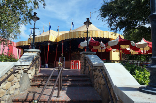 The old FastPass distribution center in Storybook Circus is now an area to kick back and relax.