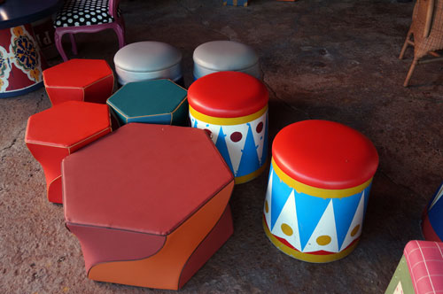 Kids will love these colorful stools.