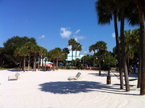Like walking on the sand?  You can do that at the Caribbean Beach Resort.