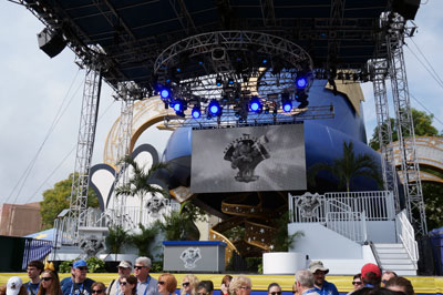 Disney set up a stage for a short re-dedication ceremony.