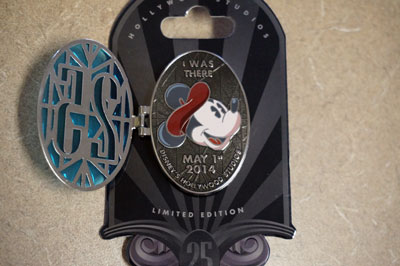 Plenty of limited edition Disney trading pins, like this one with Mickey.