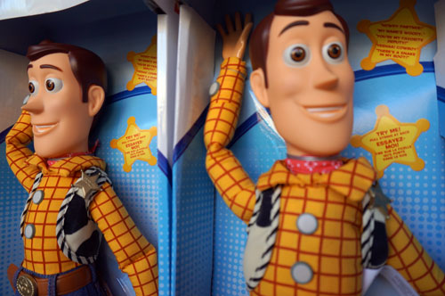 Meet Woody and other Toy Story characters.