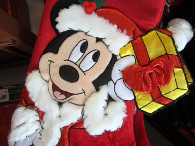 Inside the shops, Mickey appears quite a bit as Santa.