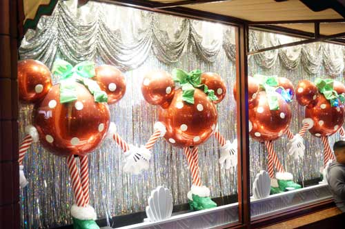 Fun Christmas decorations in the store windows on Hollywood Blvd.