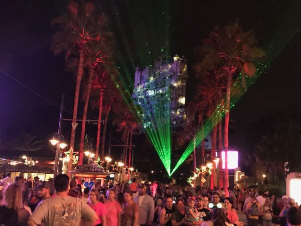 The laser lights light up the park in an amazing way!