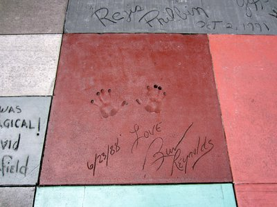 You can find the cement hand prints of many 1980s stars near The Great Movie Ride.