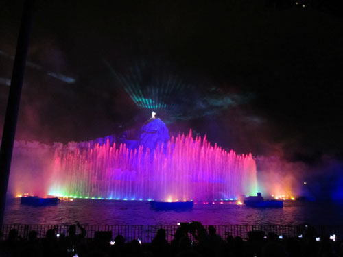 Fantasmic! is a great way to end your day at the Studios.