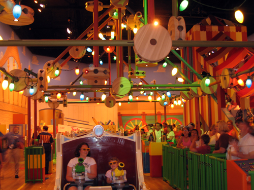Toy Story Mania is a fun 3D ride in Hollywood Studios, and it will be part of the new Toy Story Land.