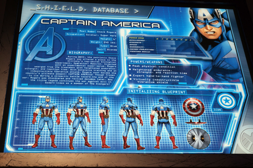 Plenty of great details like this one featuring Captain America.