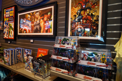 Artwork, books, and collectibles.