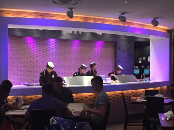 Tokyo Dining offers a cool onstage kitchen.