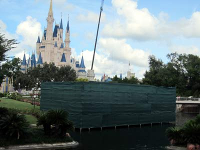 The old Swan Boat loading area gets some TLC.
