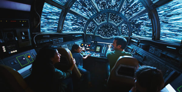 "Millennium Falcon: Smugglers Run allows you to drive the ""fastest hunk of junk in the galaxy""; just don't wreck it! Photo credits (C) Disney Enterprises, Inc. All Rights Reserved"
