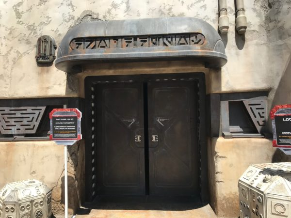 The Droid Depot allows both Disneyland and Disney World guests to build their own droid, but the exteriors have different color palettes.
