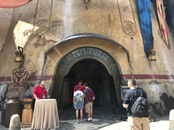 Oga's Cantina in Disney World appears to be duller in color than the Disneyland version.