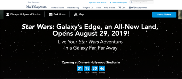 The Disney World site indicates that the land will open soon!