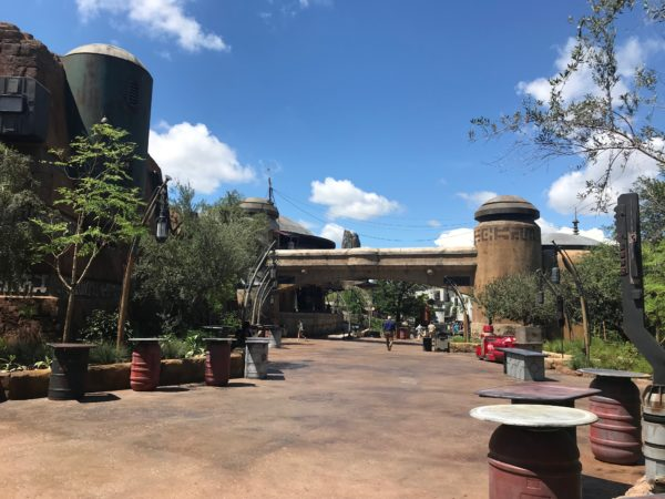 Walking from Toy Story Land to Galaxy's Edge, this is what you'll see.