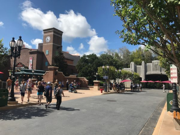 Walking down Grand Avenue towards Galaxy's Edge, this is what you'll see.