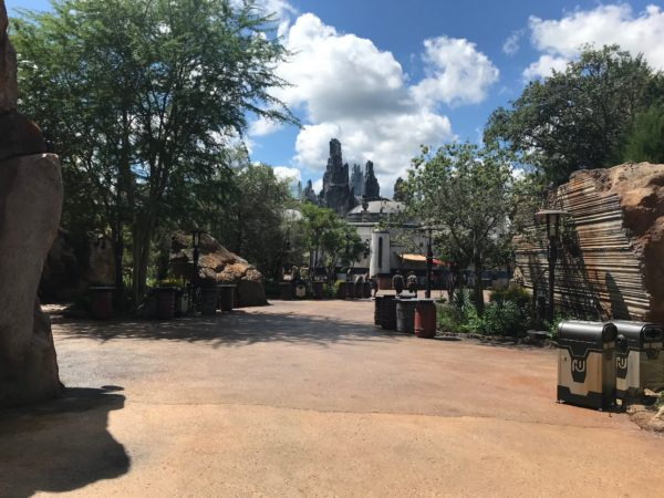This is the view looking from Toy Story Land to Galaxy's Edge.
