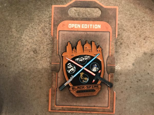 Open Edition Black Spire Outpost lightsaber trading pin