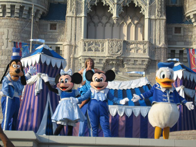 Mickey and friends have talked during the Castle show for some time.
