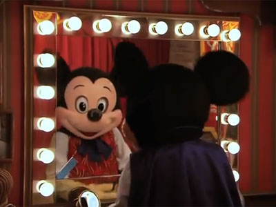 Talking Mickey Mouse now greets guests on Main Street. Photo credits Youtube & (C) Disney Enterprises, Inc. All Rights Reserved