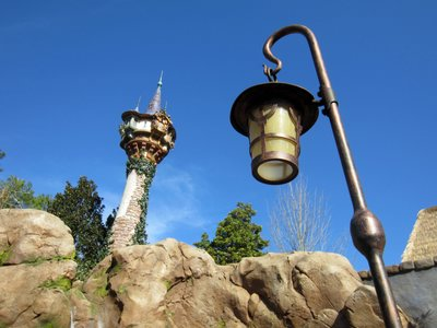 Rapunzel's Tower in the background.