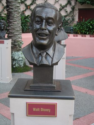 This bust pays tribute to Walt's many contributions to the entertainment industry.
