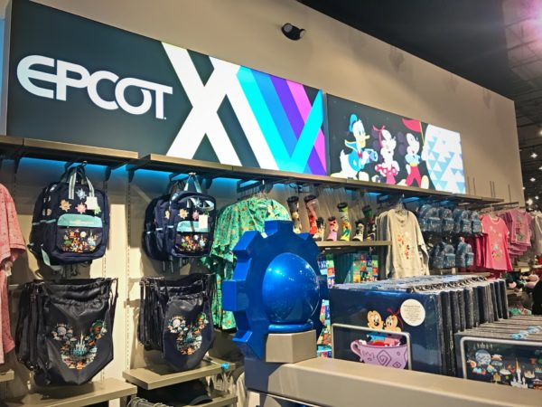 The interior of the temporary MouseGear store has ample space for all of our favorite goodies!