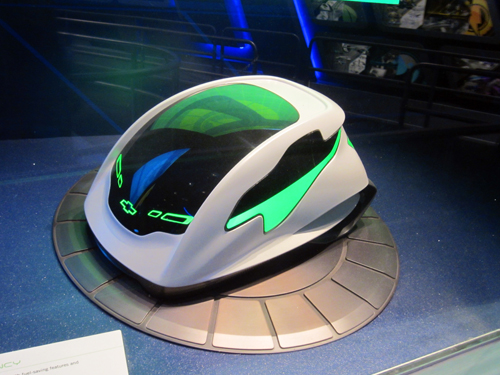 Chevrolet placed concept cars in Test Track's queue to advertise their brand.