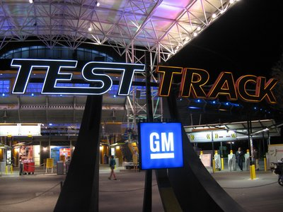 Test Track is a high-speed thrilling adventure.
