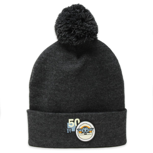 The Child beanie is sure to put a bounty on your bean. This soft sweater cap features an elemental Grogu and a pom pom topper. $19.99 Photo credits (C) Disney Enterprises, Inc. All Rights Reserved