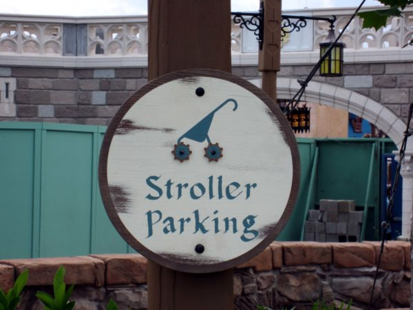 Disney allows strollers and transportation for disabled persons, but no skateboards or skates of any kind.