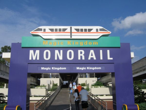 One of the many monorail signs around property.