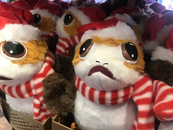 This Porg is excited that it is Christmastime!