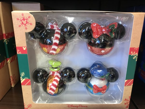 Mickey head Christmas tree ornaments for $39.99.