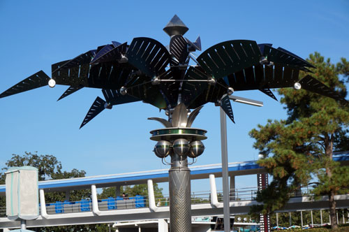In the Disney backstory, they are used to collect power for Tomorrowland.
