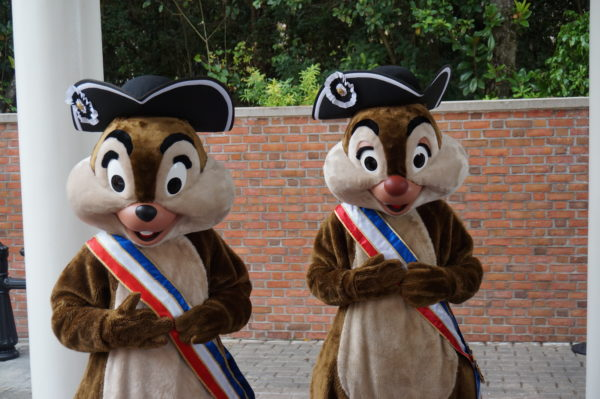 Chip & Dale are among the most popular characters in all of Disney World!