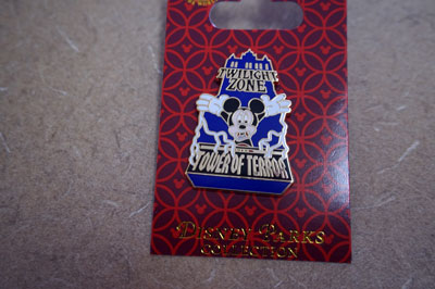 Close up of Disney Trading Pin with Mickey Mouse.