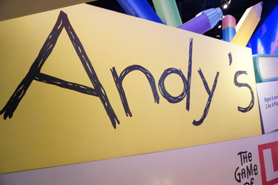 It's a good idea to put your name on your toys, like Andy did.
