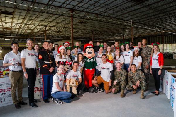 For more than 15 Years Cast Members have supported Toys for Tots. Photo credits (c) Disney Enterprises, Inc. All Rights Reserved