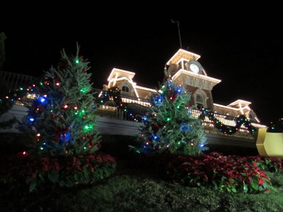 Main Street Train Station Christmas