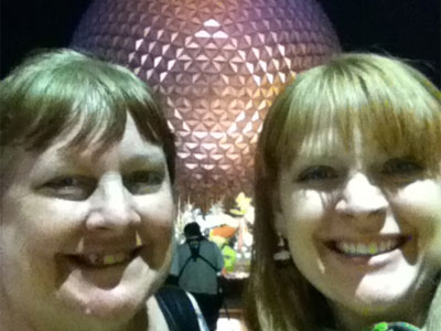Smiles at Epcot.
