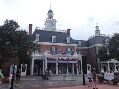 Show building for The American Adventure.