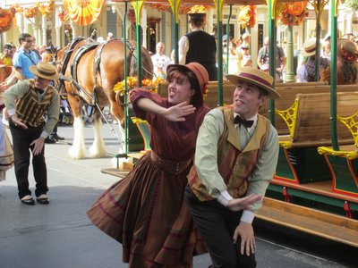 Dancers look forward to autumn in the Trolley Show.