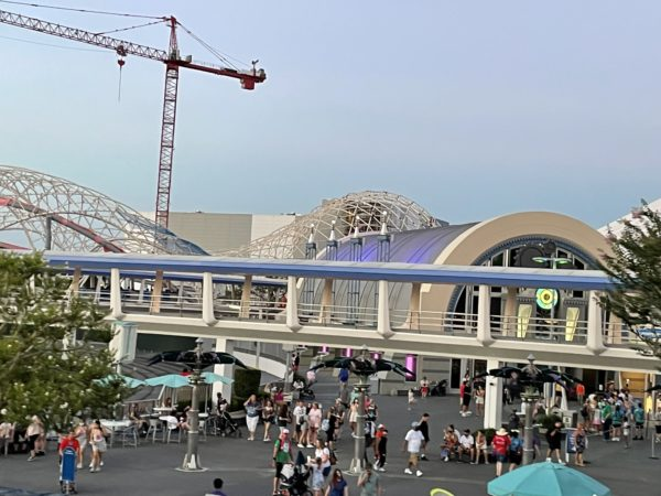 The construction crane still towers over the Tron site.