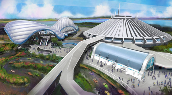 The new Tron Coaster will replace the Tomorrowland Speedway. Photo credits (C) Disney Enterprises, Inc. All Rights Reserved.