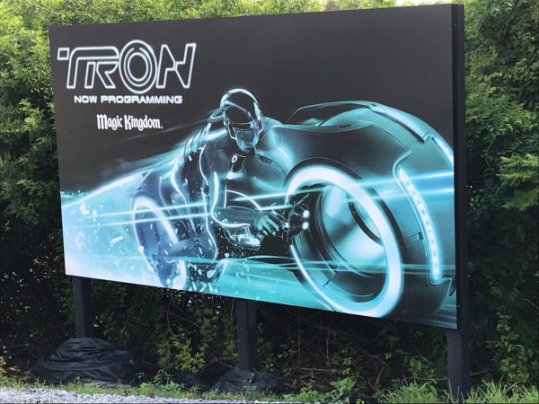 It seems that work on the TRON coaster has slowed.