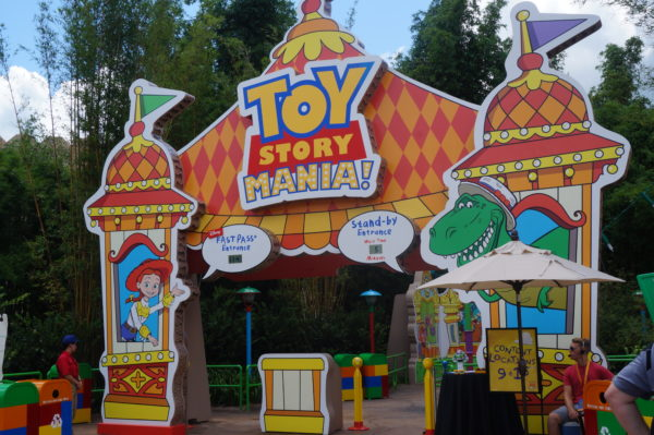 Toy Story Midway Mania has a new entrance in Toy Story Land instead of Pixar Place!