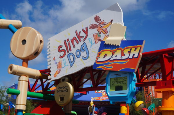 Slinky Dog Dash is a new family coaster in Toy Story Land.